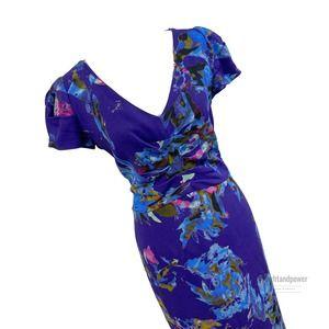 Etro Purpole Floral Sheath Dress48EUC